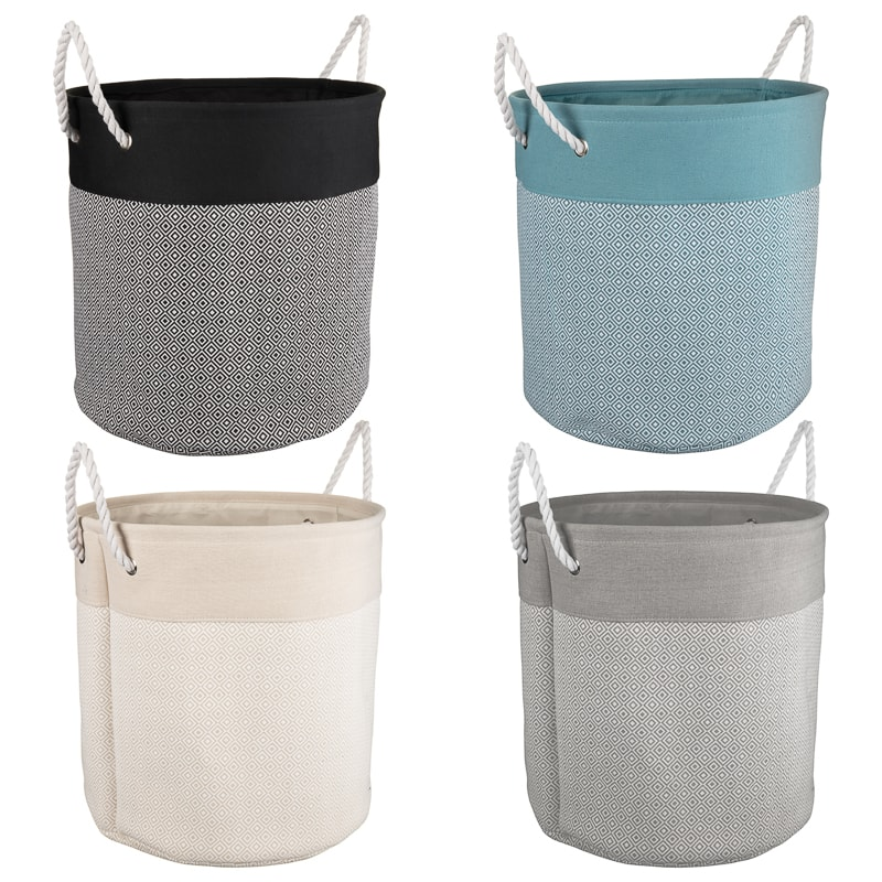 Oversized Diamond Laundry Hamper - Grey