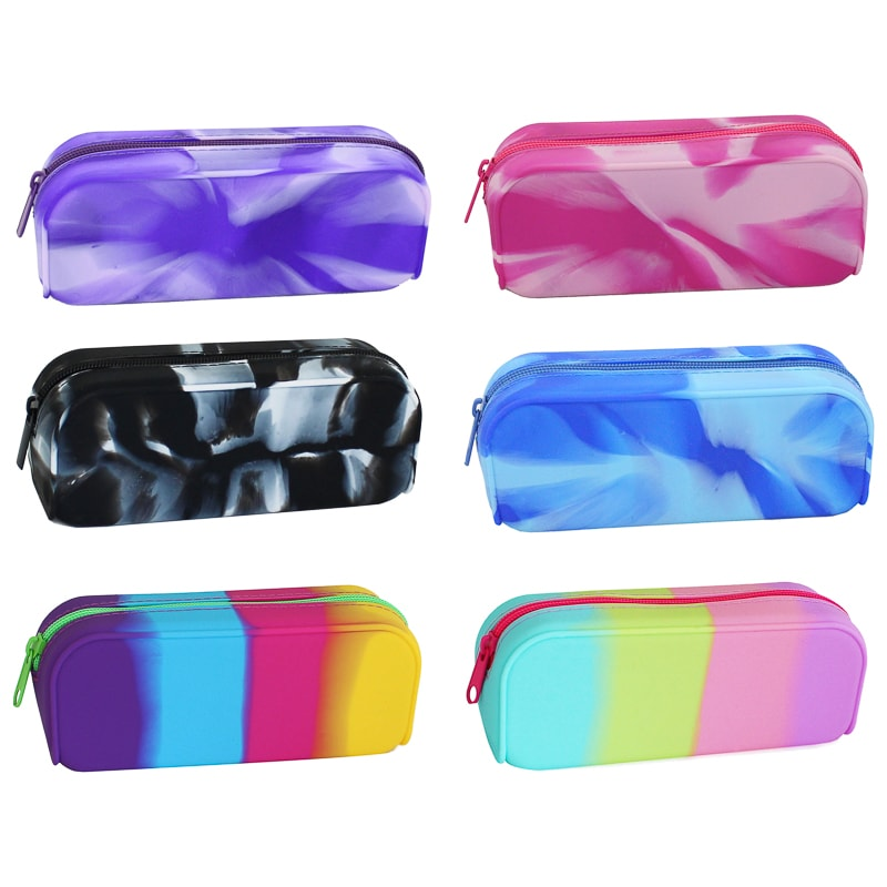Silicone Marble Pencil Case Assorted Stationery B Amp M