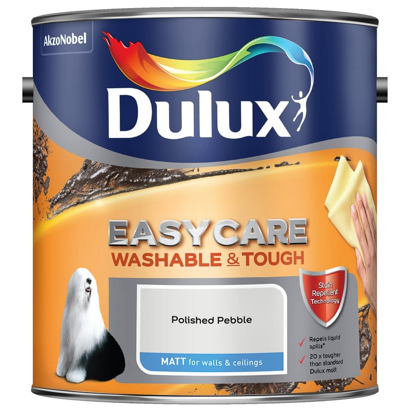 Dulux Easycare Matt Paint - Polished Pebble 2.5L