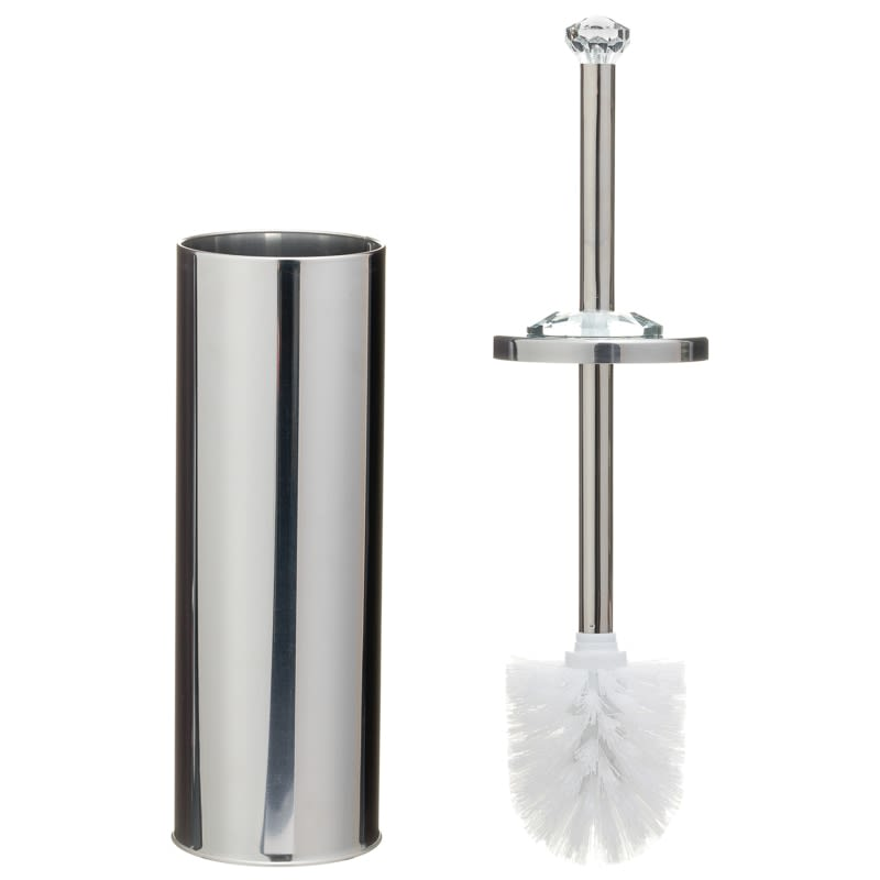 Crystal Toilet Brush & Holder