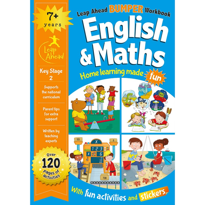 Leap Ahead Workbook English & Maths 7+