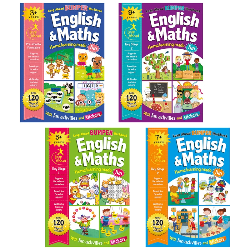 Leap Ahead Workbook English & Maths 5+