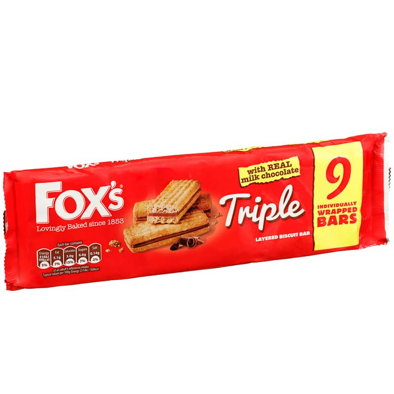 Fox S Triple Layered Chocolate Biscuits 9pk Biscuits B Amp M