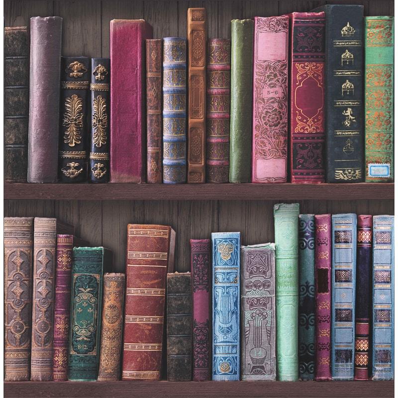 Graham Amp Brown Bookshelf Wallpaper Decorating Diy B Amp M