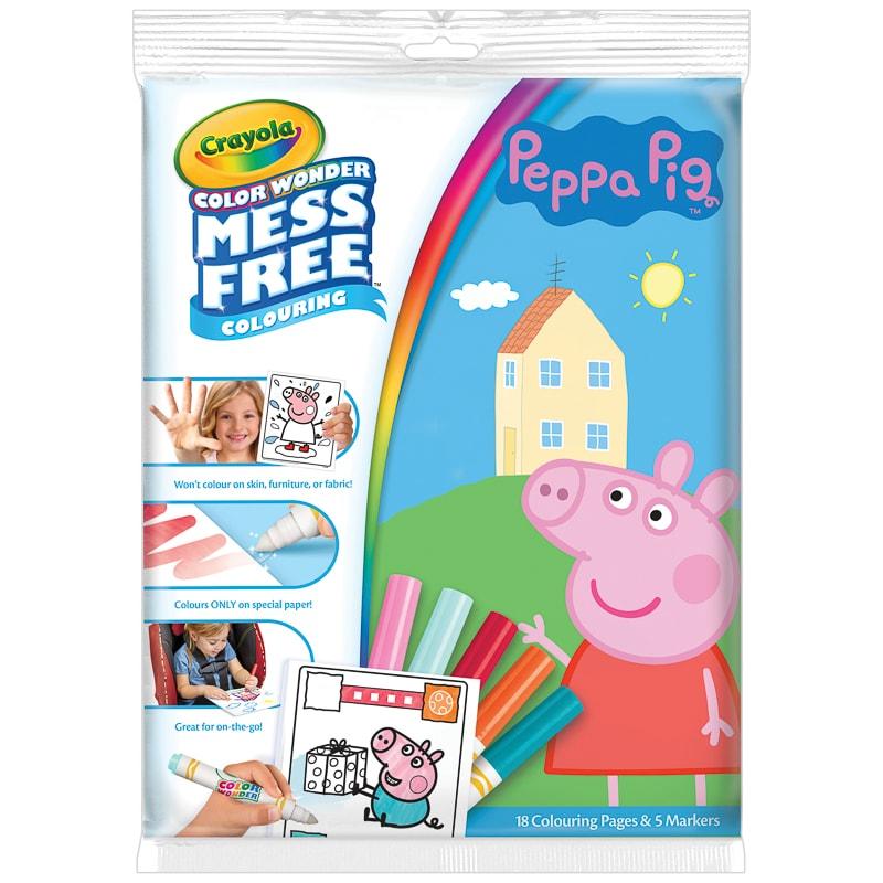 Peppa Pig Colour Wonder Mess Free Colouring Book