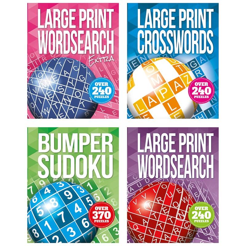 large print puzzle book - crosswords | books - b&m