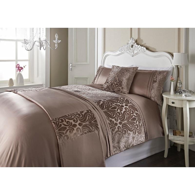 Dallas damask velvet bed in a bag king size bedding b m for Bedding sets near me