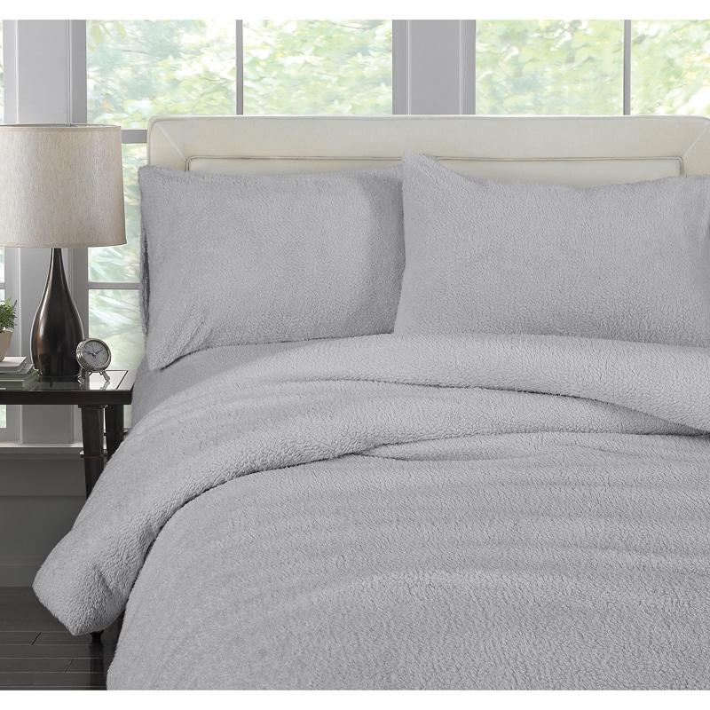 Downland Adults Fleece Duvet Set Double Bedding B Amp M