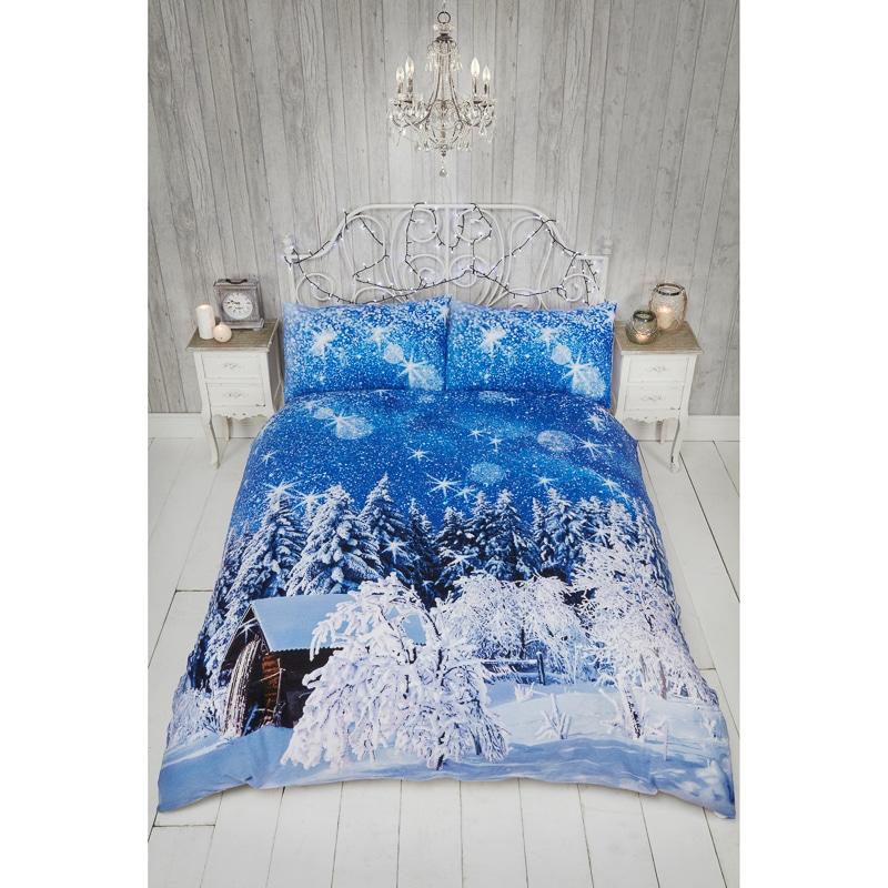 Winter Wonderland Brushed Cotton King Bedding B Amp M