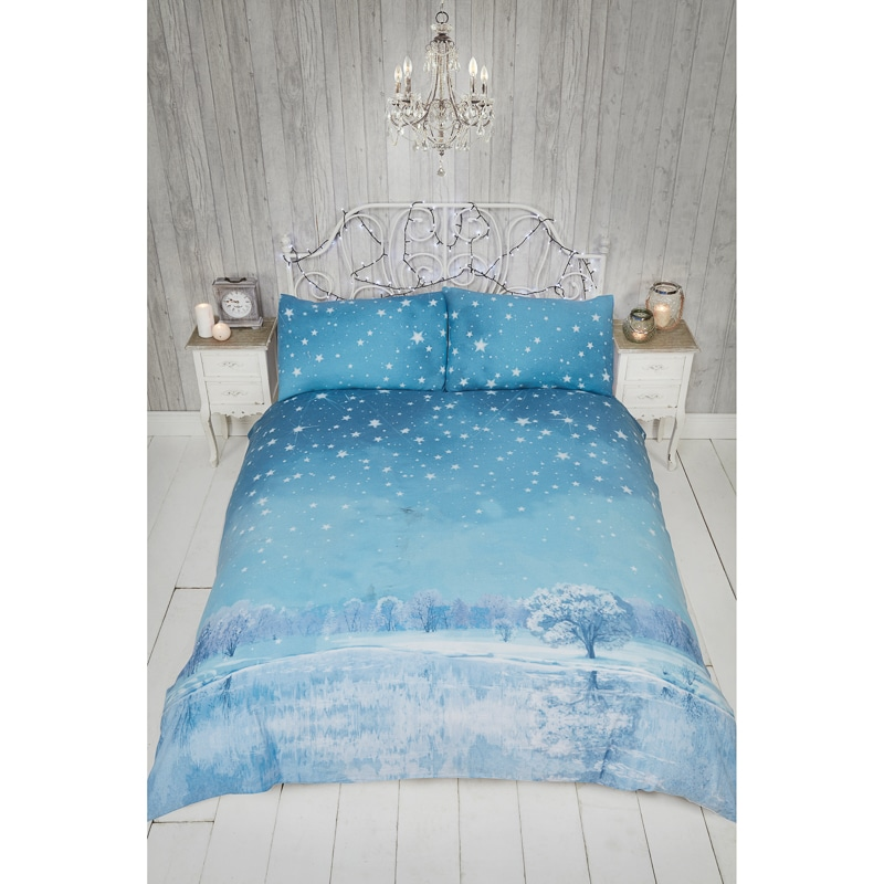 winter wonderland brushed cotton king bedding b m. Black Bedroom Furniture Sets. Home Design Ideas