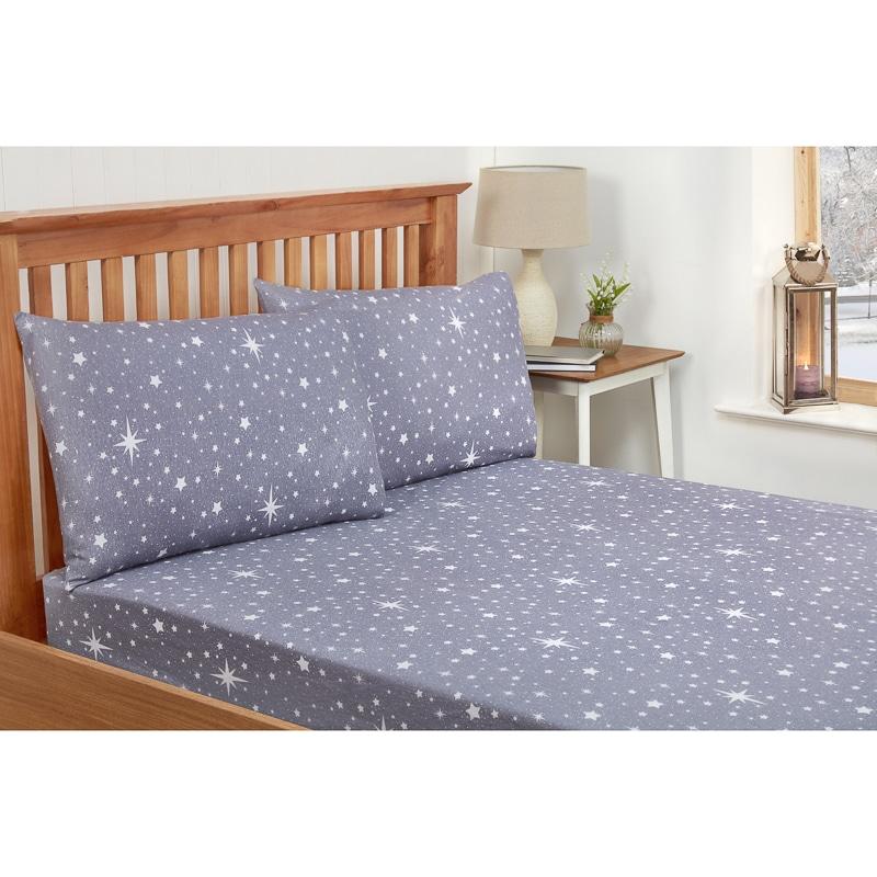 Kids Stars Single Sheet Set   Grey