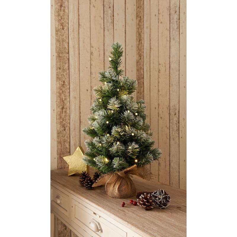 Cheap Christmas Trees Uk: Pre-Lit Snowy Christmas Tree 2ft