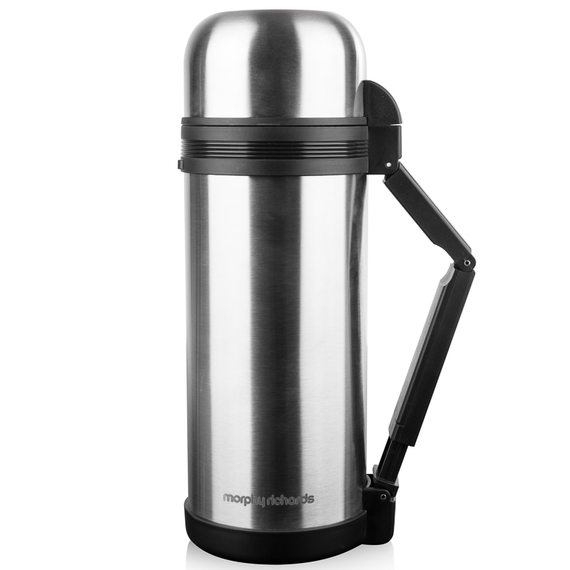 morphy richards stainless steel flask 1 5l camping b m
