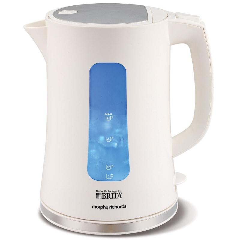 morphy richards brita filter kettle white kettles b m. Black Bedroom Furniture Sets. Home Design Ideas