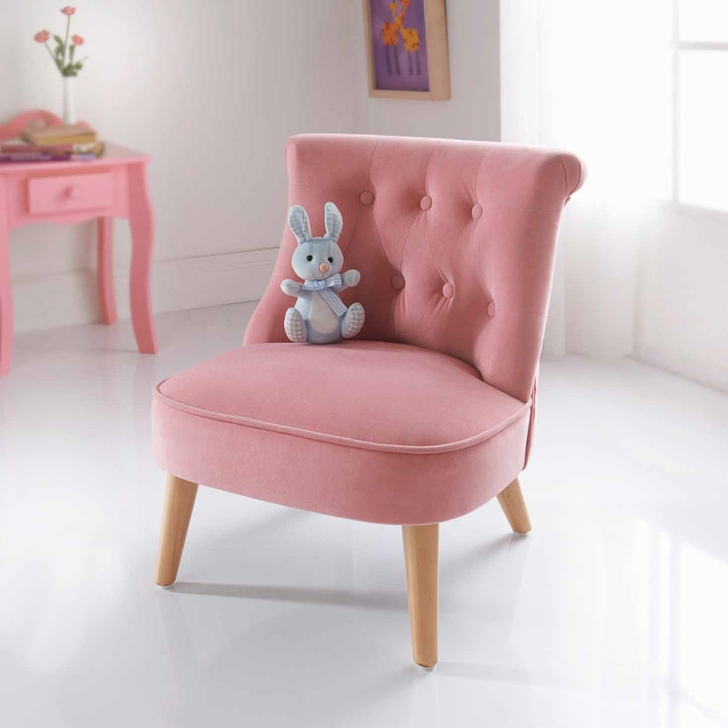 Holiday bedding amelia velvet kids chair children 39 s for Personalized kids soft chairs