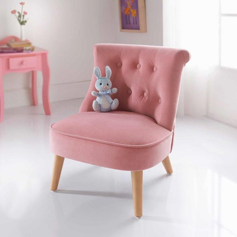 Amelia Velvet Kids Chair Children S Furniture B Amp M