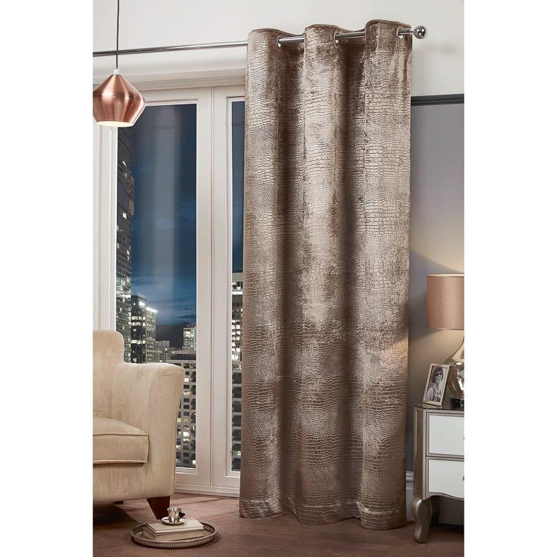 "Bedroom Design Images Bedroom Valances Bedroom Curtains Uk Bedroom Bin B M: Croc Velvet Fully Lined Curtain Panel 54 X 86"""