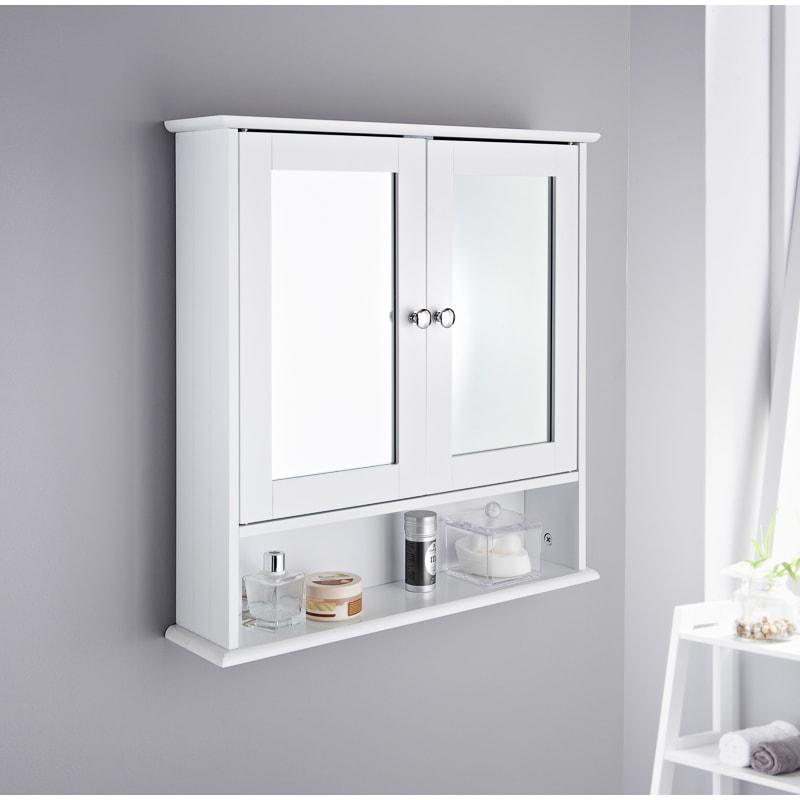 Kassel Outlests Kitchen Bath Cabinet: Maine Bathroom Double Door Cabinet & Shelf