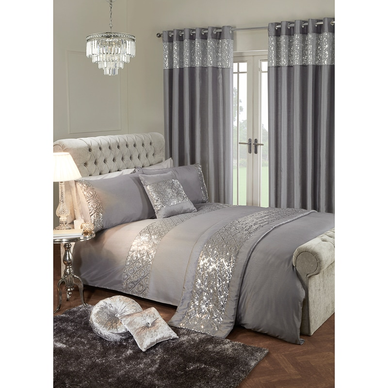 Karina Bailey Luxor Sequin Duvet Set Double Duvets B Amp M