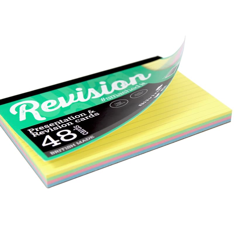 Silvine Multi-Coloured Revision & Presentation Cards 48pk