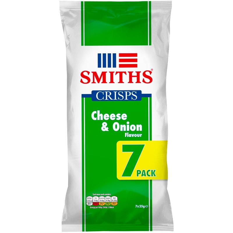 smiths cheese amp onion crisps 7pk crisps snacks bampm
