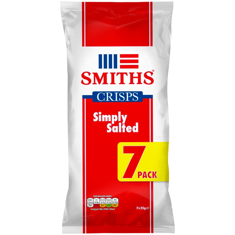 smiths ready salted crisps 7pk crisps snacks bampm