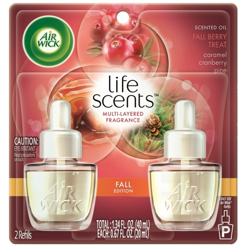 Air Wick Life Scents Scented Oil 2pk Fall Berry Treat B Amp M