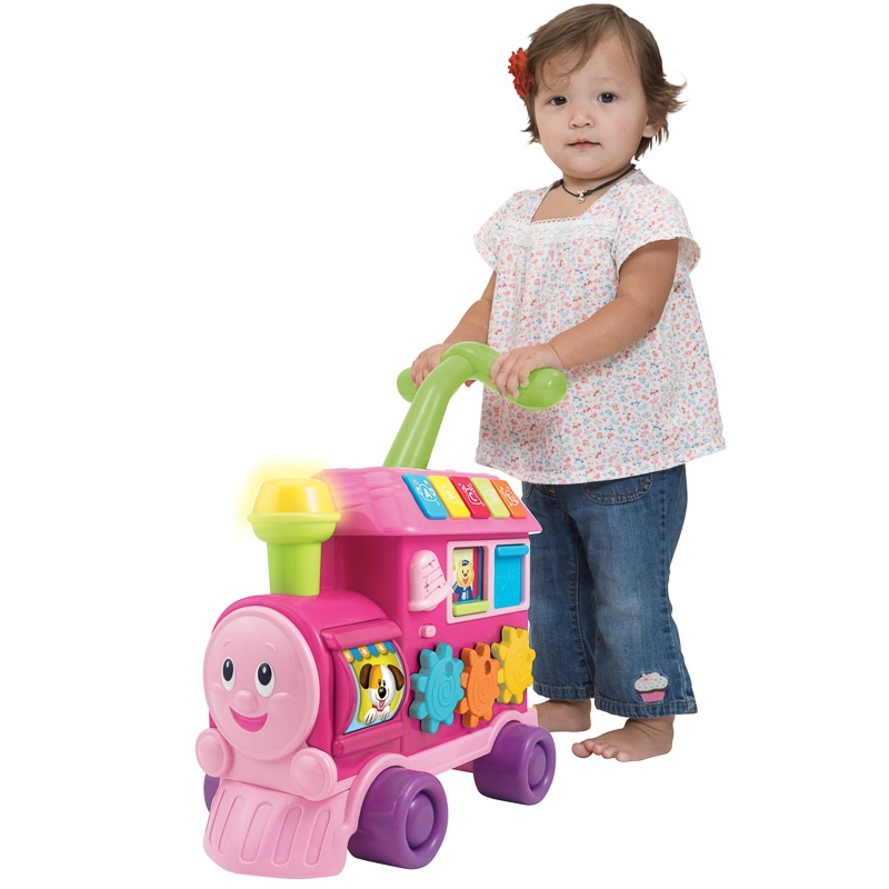 Walker Ride On Learning Train Pink Baby Amp Toddler Toys