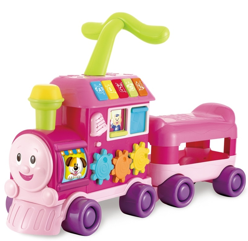 Walker Ride On Learning Train Pink Baby Amp Toddler Toys B Amp M