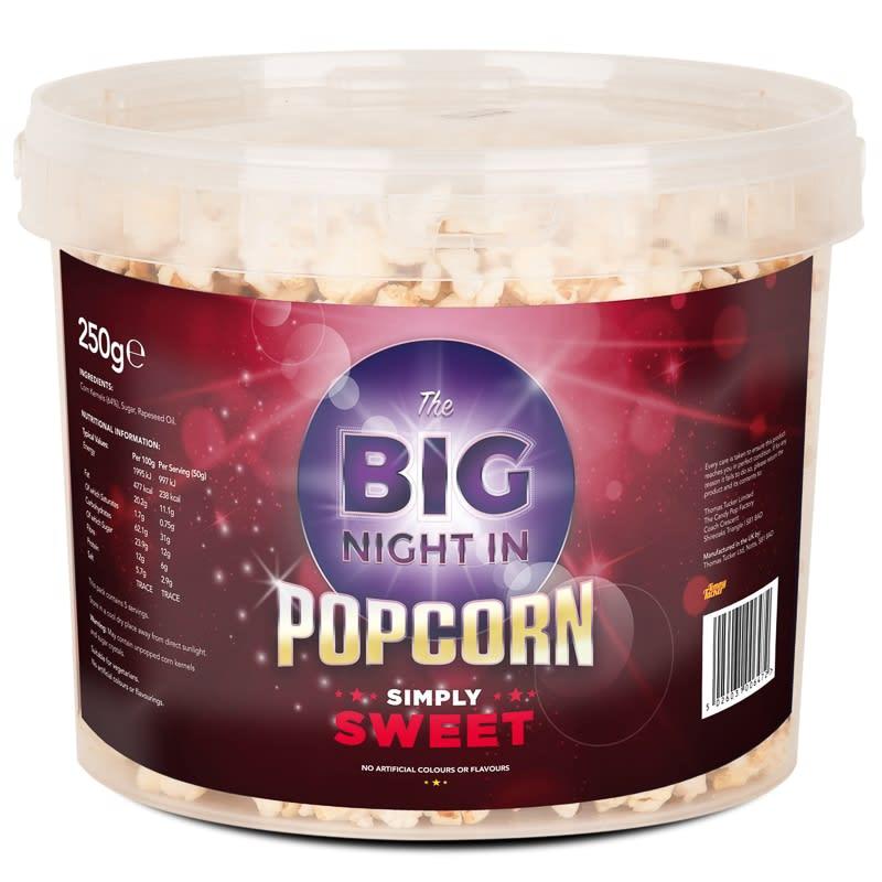 Big Night In Popcorn Tub Sweet Packaged Foods B Amp M