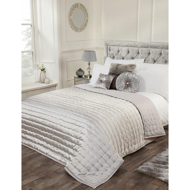 Karina Bailey Matt Satin Bedspread 200 X 200cm Bedding B Amp M