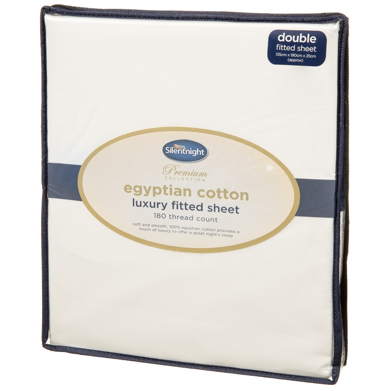 Silentnight Egyptian Cotton Double Fitted Sheet - Cream
