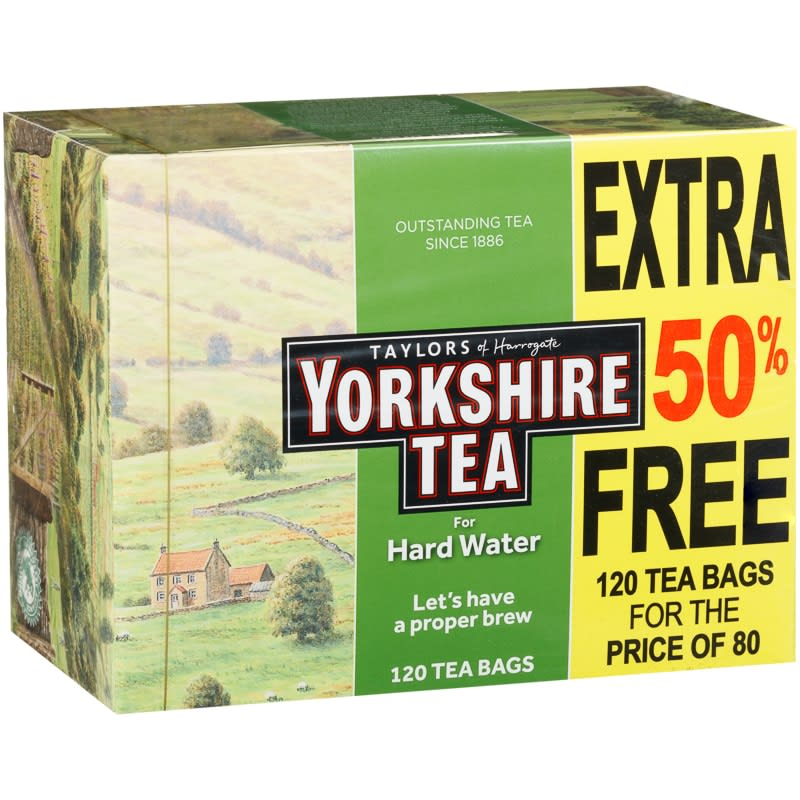 Yorkshire Tea Hard Water Tea Bags 120pk
