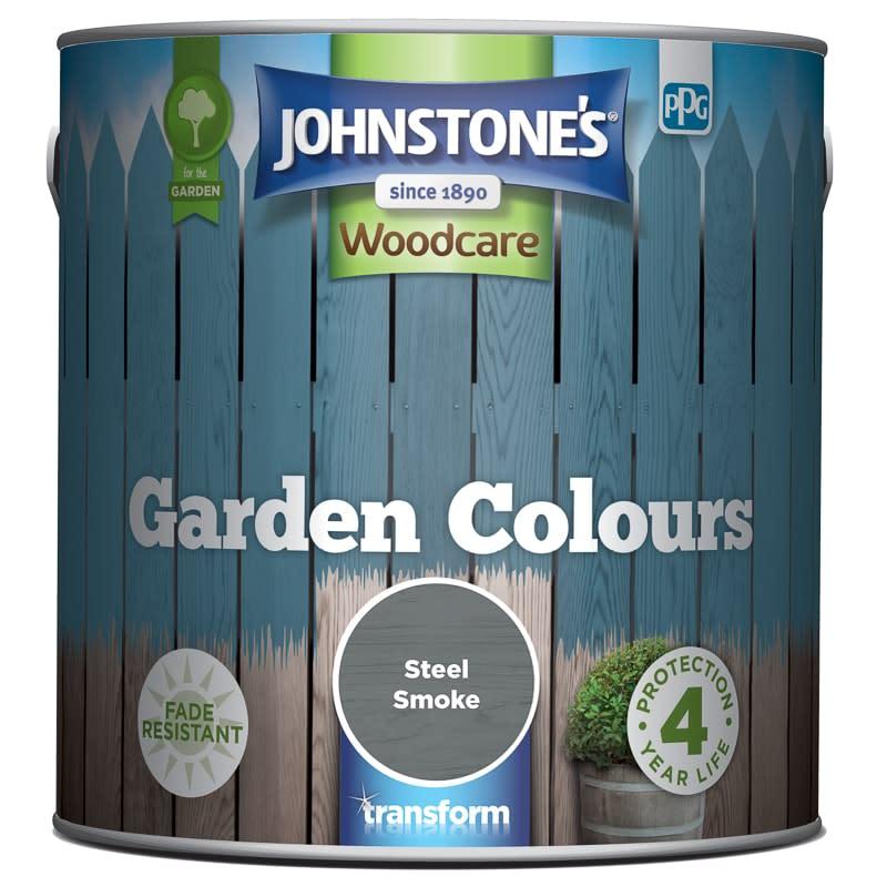 Johnstone 39 s paint woodcare garden colours steel smoke 2 5l - Johnstones exterior paint set ...