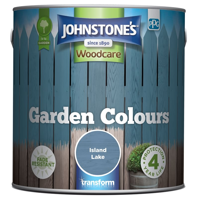 Johnstone's Paint Woodcare Garden Colours - Island Lake 2.5L