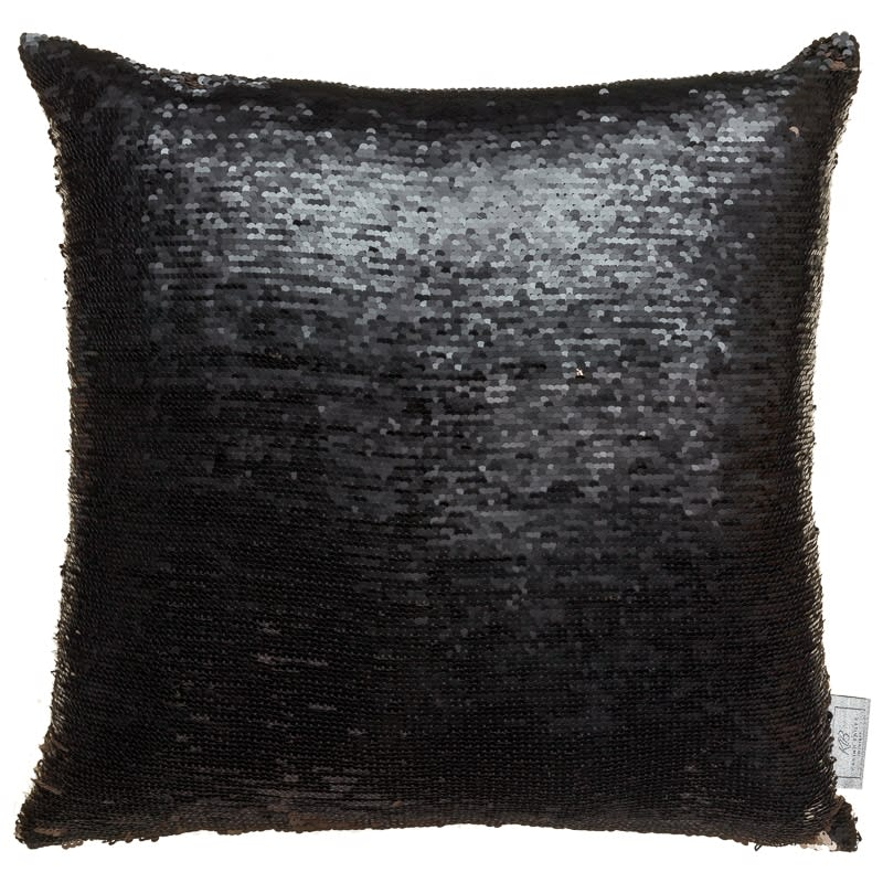 Reversible Sequin Cushion Gold Amp Black Cushions B Amp M