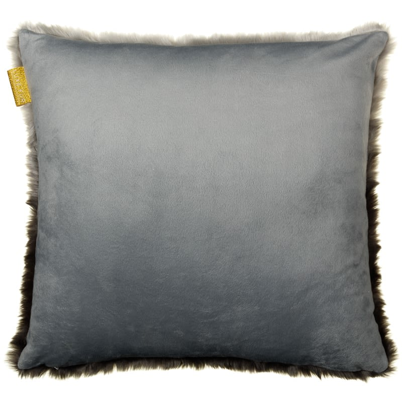 ombre faux fur cushion charcoal furnishings cushions. Black Bedroom Furniture Sets. Home Design Ideas