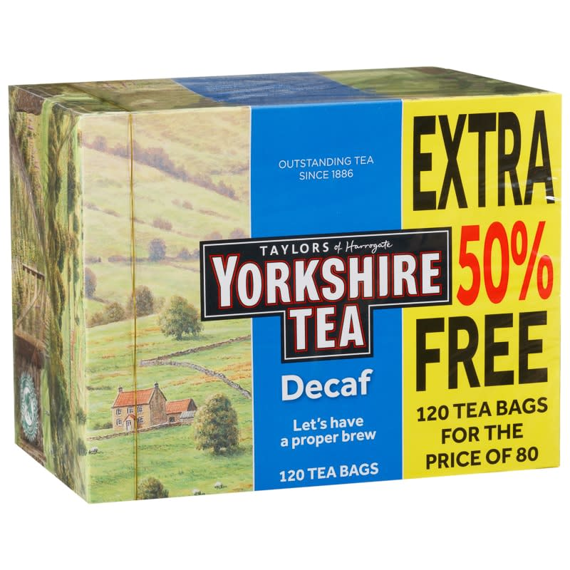 Yorkshire Tea Decaf Tea Bags 120pk Tea Amp Hot Drinks B Amp M