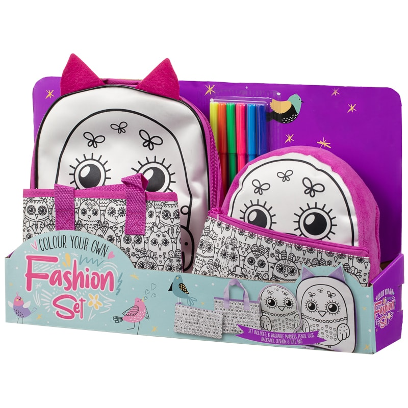 Colour Your Own Fashion Set 4pc - Birds