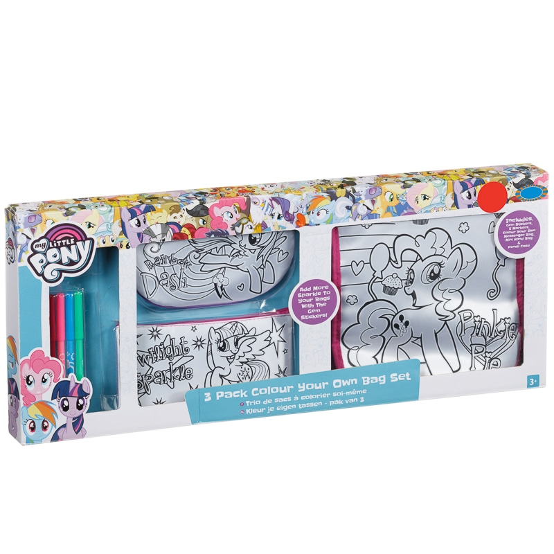 My Little Pony Colour Your Own Bag Bags B Amp M