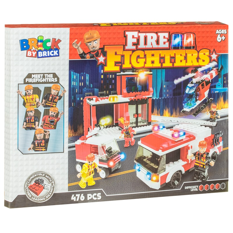 Brick by Brick Fire Fighters Play Set