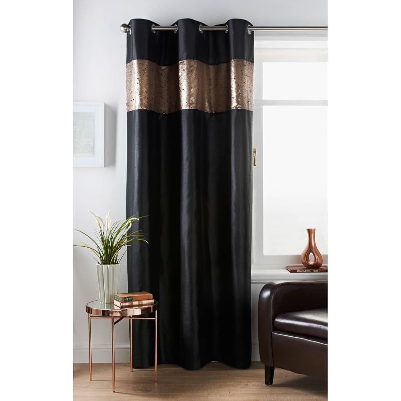 327947 Karina Bailey Reversable Sequin Curtain Black