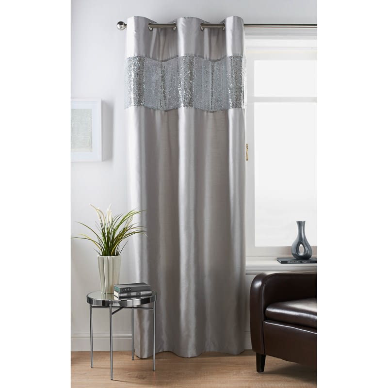 327947 Karina Bailey Reversable Sequin Curtain Silver