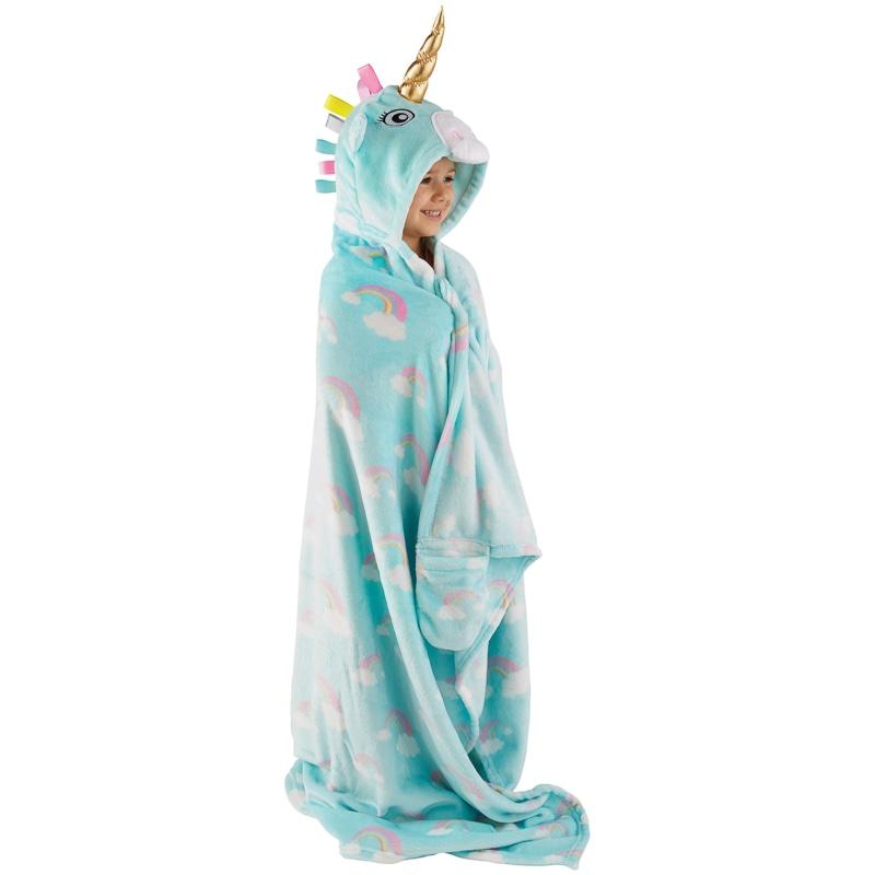 3d Hooded Blanket Unicorn Soft Furnishings B Amp M Stores