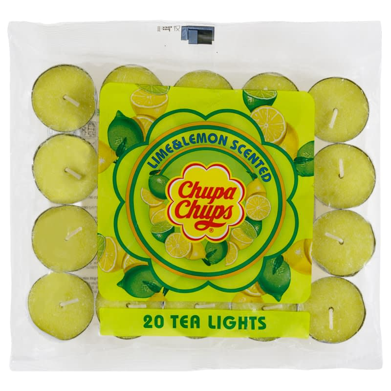 Chupa Chups Tea Lights 20pk - Lime & Lemon