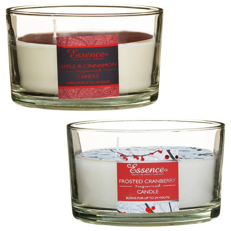 Essence 3 Wick Candle - Frosted Cranberry | Gifts - B&M