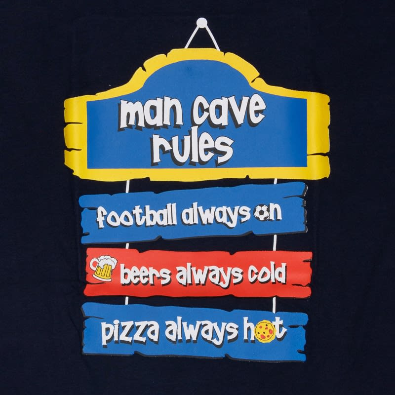 Man Cave Clothing Store : Mens slogan pyjamas man cave rules clothing b m