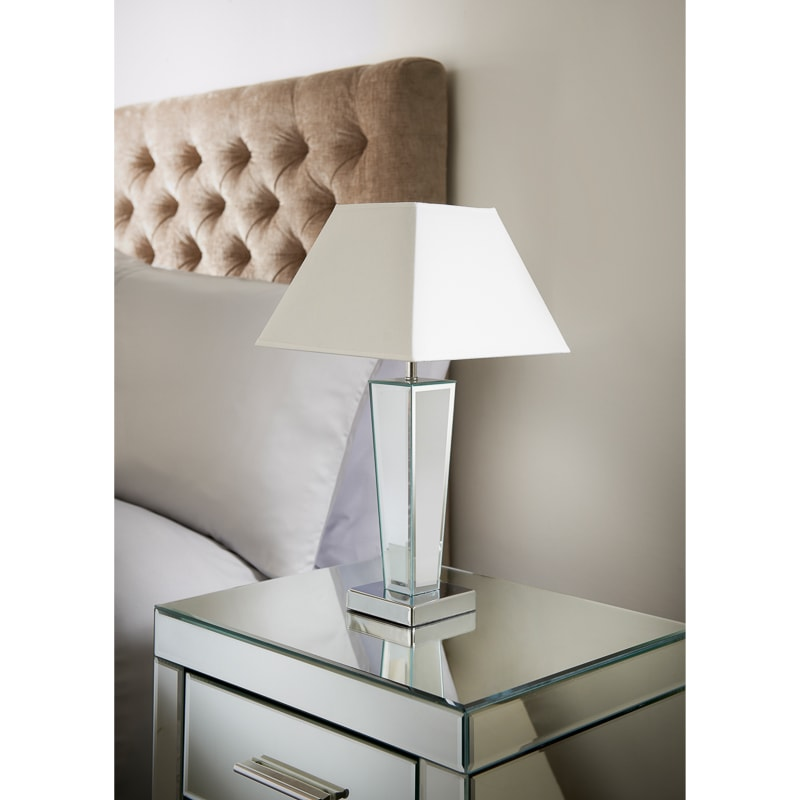 Gatsby Mirror Table Lamp - White