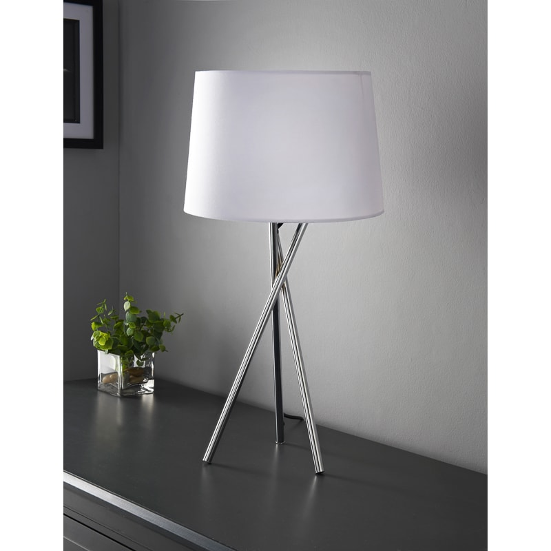 Tripod Table Lamp White Lighting Bm
