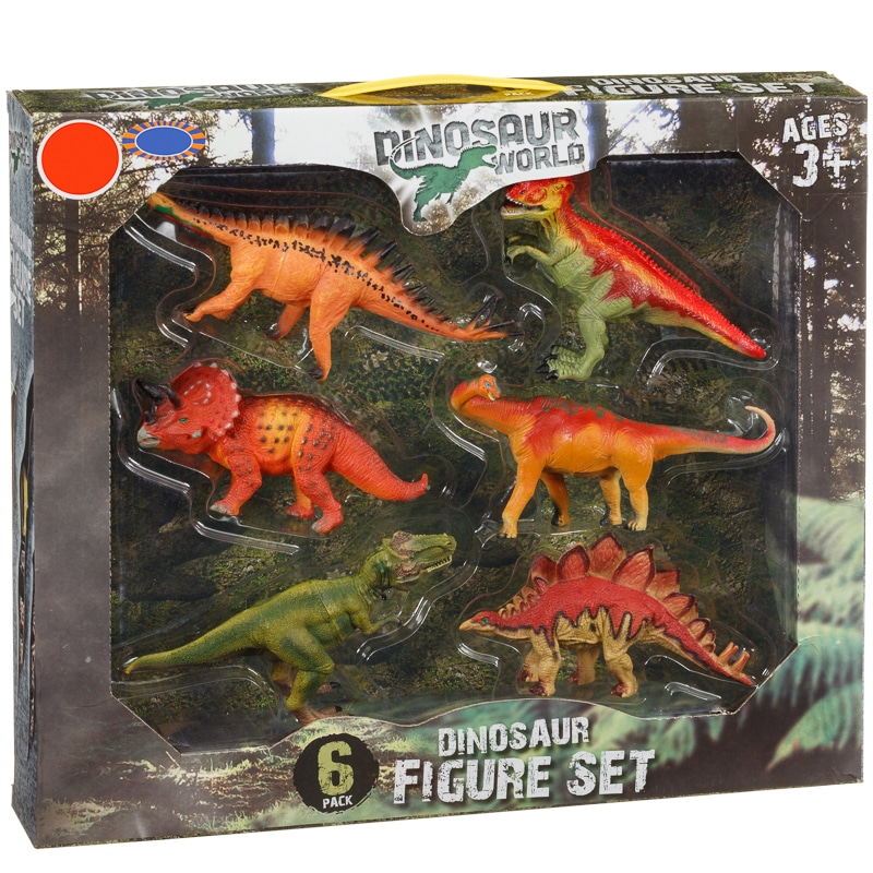 Dinosaur Set 6 Pack Kids Toys B Amp M